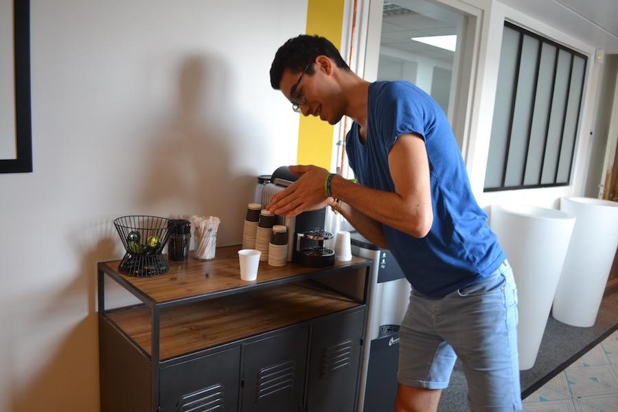 Plongeon café machine à eau